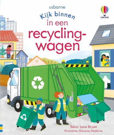 Een recyclingwagen