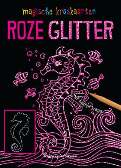 Magische kraskaarten: roze glitter