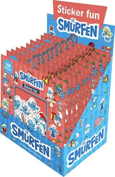 Toonbankbox – 12 ex Sticker Fun Smurfen