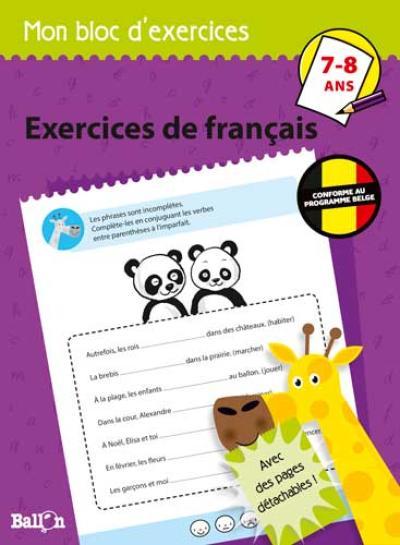 Exercices de français 7-8 ans