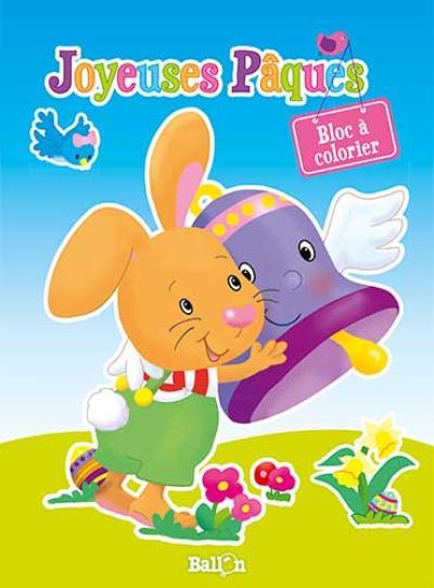 Joyeuses Pâques Bloc à colorier