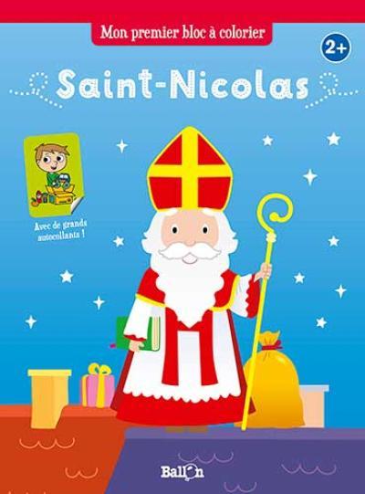 Mon premier bloc à colorier Saint-Nicolas