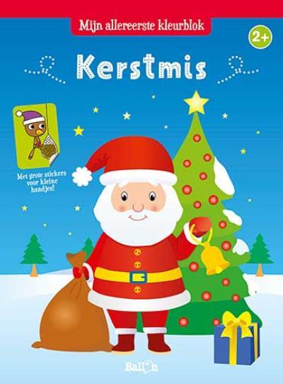 Kerstmis: Kleurblok met stickers