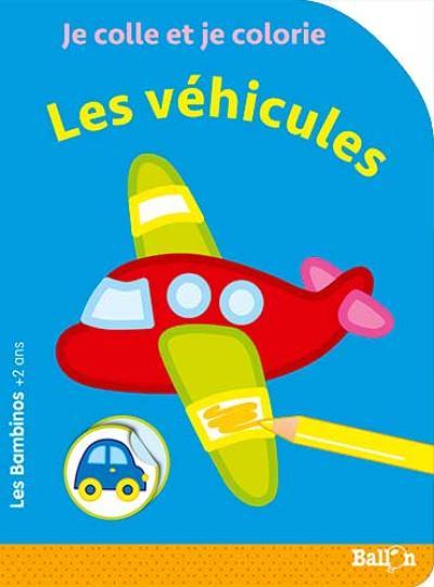 Les Bambinos – Coller et colorier – Les véhicules
