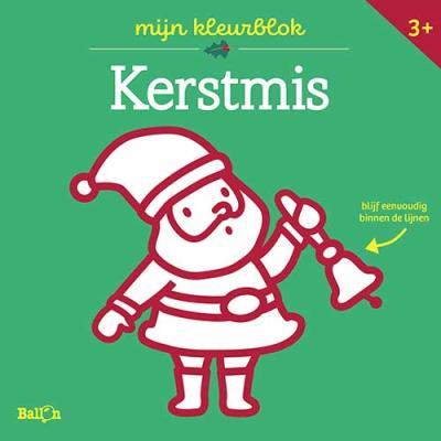 Kleurblok Junior – Kerst (dikke lijnen)