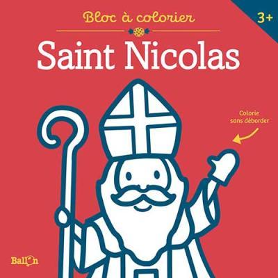 Bloc à colorier sans déborder – Saint-Nicolas