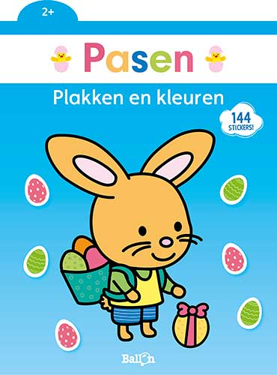 Plakken en kleuren Pasen