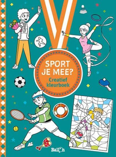 Sport je mee? Creatief kleurboek