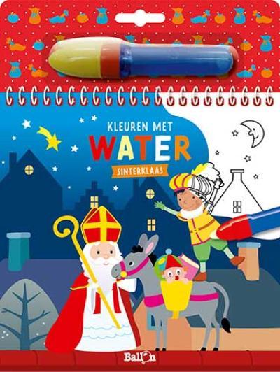 Kleuren met water – Sinterklaas
