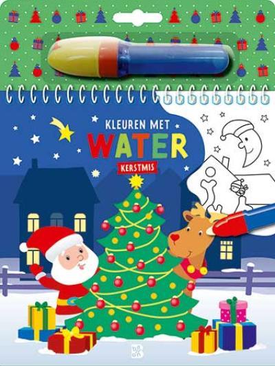 Kleuren met water – Kerstmis