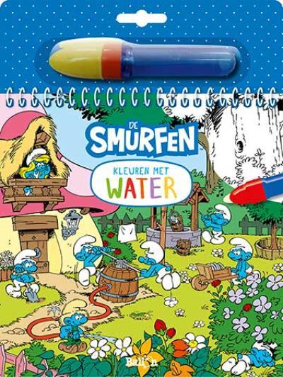 Kleuren met water – De Smurfen