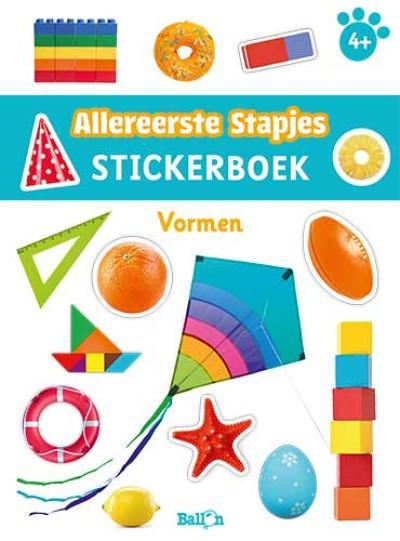 Stickerboek vormen 4+