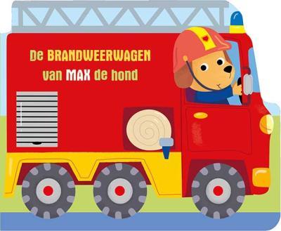 De brandweerwagen van Max de hond