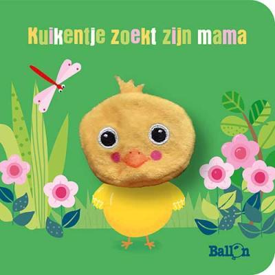 Kartonboek met vingerpopje: Kuikentje zoekt zijn mama