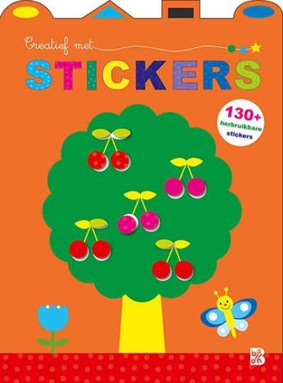 Creatief met stickers (kersenboom)