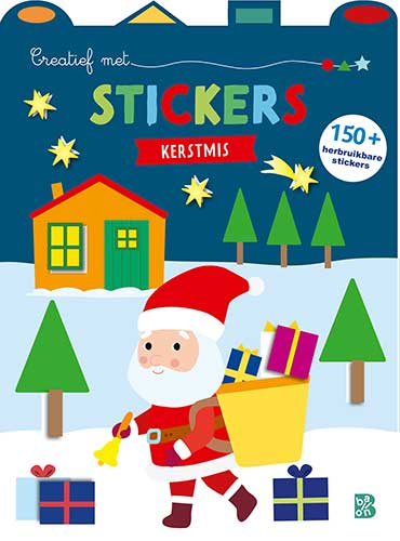Creatief met stickers Kerstmis