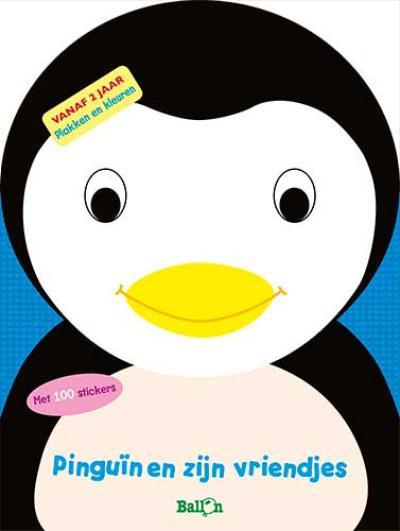 Pinguïn en zijn vriendjes (plakken en kleuren)